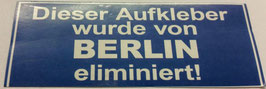 150 Berlin eliminiert Aufkleber