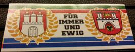 150 Hannover Hamburg für immer und ewig Aufkleber
