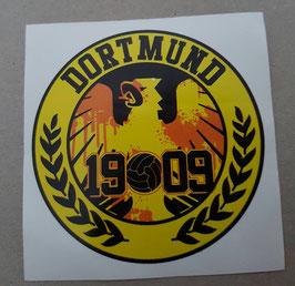 150 Dortmund 1909 Adler Rund Aufkleber