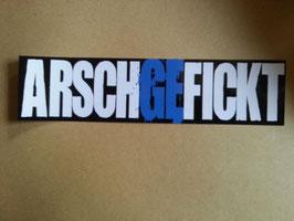 Arschgefickt Anti Schalke schwarz weiss