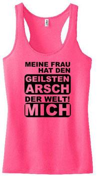 Geilsten Arsch Tanktop Pink