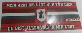 150 München mein Herz schlägt nur für dich Aufkleber