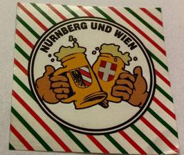 150 Nürnberg Rapid Freundschaft Bier Aufkleber