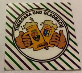150 Gladbach Poli Freundschaft Bier Aufkleber