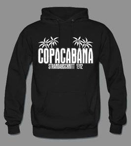 Copacabana Strand Hoodie Schwarz