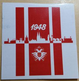 150 Köln 1948 Skyline 6x6 Aufkleber
