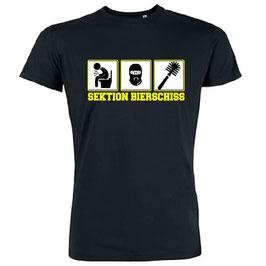 Sektion Bierschiss Shirt Schwarz mit Gelb