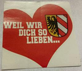 150 Nürnberg weil wir dich so lieben Aufkleber