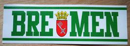 Bremen Stadtname Stadtwappen länglich Aufkleber
