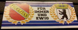 150 Berlin Karlsruhe für immer und ewig Aufkleber