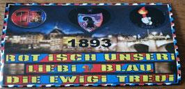 Basel Rot Isch unseri Liebi Blau die ewigi Treui Aufkleber