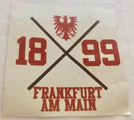 Frankfurt 1899 Kreuz Aufkleber