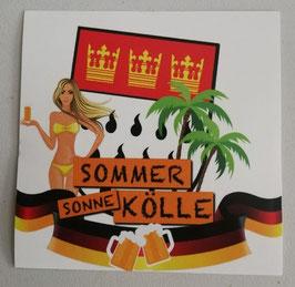 Köln Sommer Sonne Aufkleber