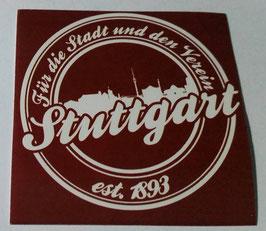 150 Stuttgart für die Stadt und den Verein Aufkleber