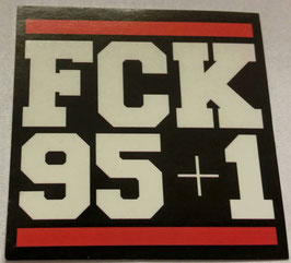 150 Fuck 95+1 Anti Hannover Aufkleber
