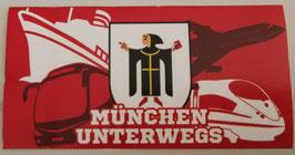 München unterwegs Aufkleber