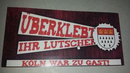 150 Köln überklebt Aufkleber