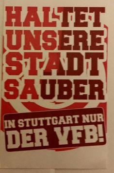 150 Stuttgart Stadt sauber halten Aufkleber