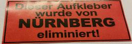 150 Nürnberg eliminiert Aufkleber
