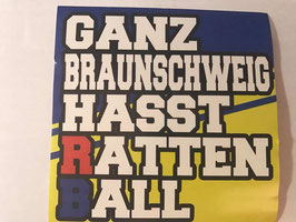 150 Ganz Braunschweig hasst Rattenball Aufkleber