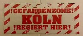 150 Köln Gefahrenzone Aufkleber