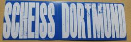 150 Scheiss Dortmund Aufkleber Blau