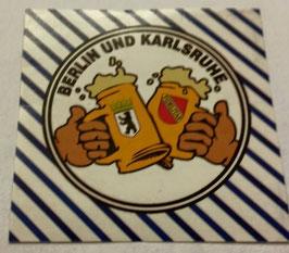 150 Berlin Karlsruhe Freundschaft Bier Aufkleber