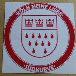 150 Köln meine Liebe Rund 6x6 Aufkleber
