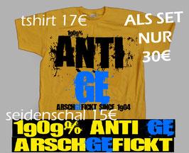 Anti Schalke Shirt und Seidenschal Set