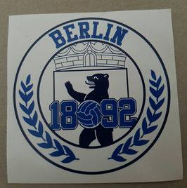 150 Berlin 1892 Bär Rund Aufkleber