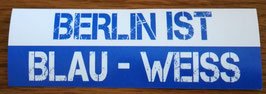 Berlin ist blau weiss Aufkleber