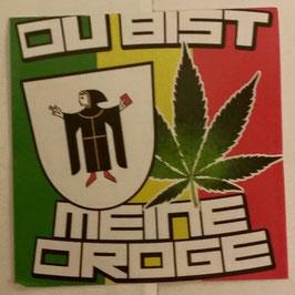 150 München meine Droge 6x6 Aufkleber