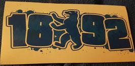 150 Berlin 1892 Bär Graffiti Aufkleber