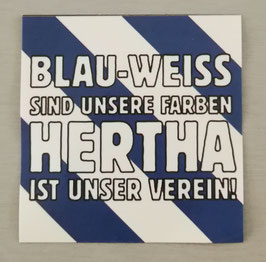 Berlin Blau weiss sind unsere Farben Aufkleber