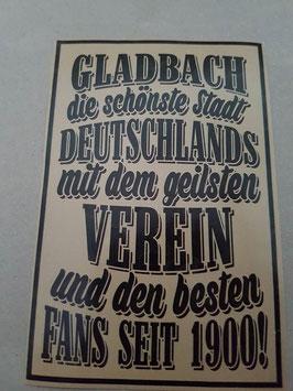 150 Gladbach die schönste Stadt Riesen Aufkleber