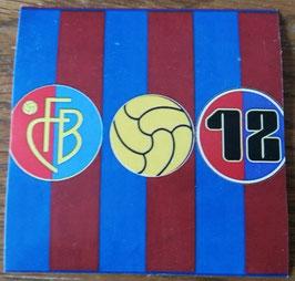 Basel Wappen Ball 12im Kreis Aufkleber