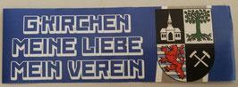 Gelsenkirchen Meine Liebe Mein Verein länglich Aufkleber