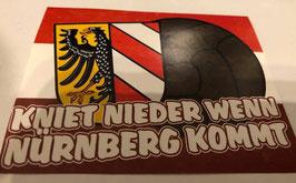 150 Nürnberg kniet nieder wenn Nürnberg kommt Aufkleber