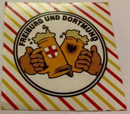 150 Freiburg Dortmund Freundschaft Bier Aufkleber