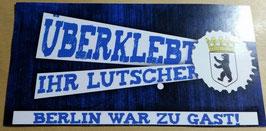 150 Berlin überklebt Aufkleber