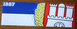 150 Hamburg Blau weiss Zahl und Wappen Aufkleber