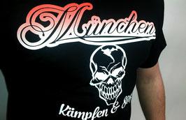 München Totenkopf Shirt Schwarz