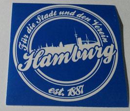 150 Hamburg für die Stadt und den Verein Aufkleber