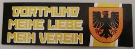 Dortmund Meine Liebe mein Verein länglich Aufkleber