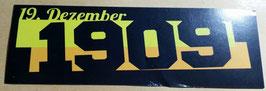 150 Dortmund Geburtstagsdatum Streifen länglich Aufkleber
