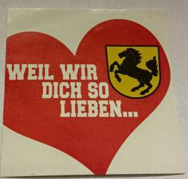 150 Stuttgart Weil wir dich so lieben Aufkleber