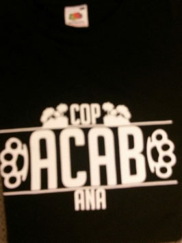 ACAB Schlagring Shirt Schwarz