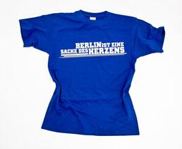 Berlin ist eine Sache des Herzens Shirt Blau