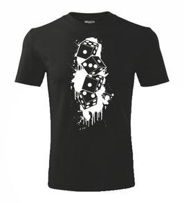 Würfel Senkrecht Shirt Schwarz