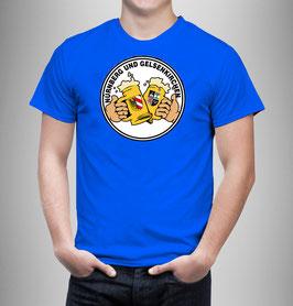 Gelsenkirchen Nürnberg Freundschaft Bier Shirt Blau